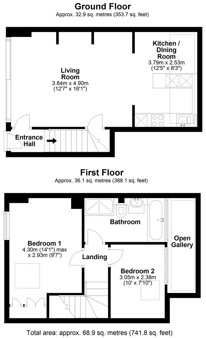Floor plan Devonshire Road, Cambridge